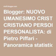 Blogger: NUOVO UMANESIMO CRISTIANO PERSONALISTA: di Pietro Piffari - Panoramica statistiche16/07/2016