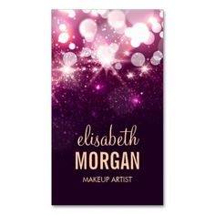 Nail technician shiny gold sparkles business card nail makeup appointment card pink glitter sparkles business card templatesbusiness reheart Image collections