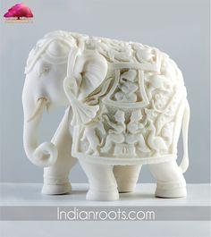 Royal Indian Elephant sculpture made in pure white marble by Aapno Rajasthan on… Indian Elephant, Elephant Love, Elephant Art, White Elephant, Elephant Stuff, Ceramic Elephant, Elefante Hindu, Elephant Home Decor, Elephant Illustration