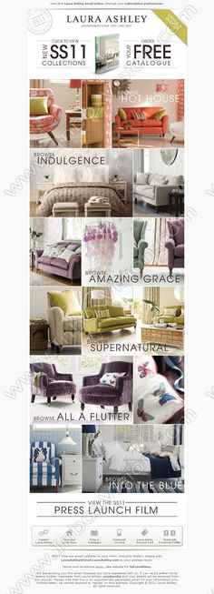 Company:    Laura Ashley Holdings Plc      Subject:    FREE catalogue - Be inspired by our New SS11 Home Collections              INBOXVISION providing email design ideas and email marketing intelligence.    www.inboxvision.com/blog/  #EmailMarketing #DigitalMarketing #EmailDesign #EmailTemplate #InboxVision  #SocialMedia #EmailNewsletters