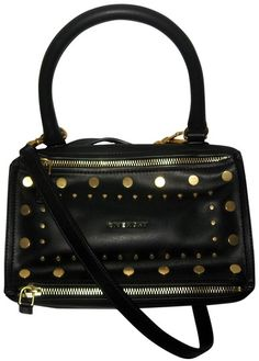 e6a04b2afd70 Givenchy Pandora Small Studded Black Calfskin Leather Cross Body Bag. Get  the trendiest Cross Body