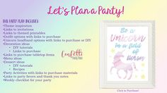 Unicorn and Rainbow Party Plan, Unicorn and Rainbow Party Ideas