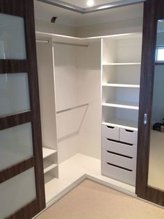 Ideas for corner closet designs dressing rooms Bedroom Closet Doors, Bedroom Cupboards, Bedroom Closet Design, Bathroom Closet, Bedroom Wardrobe, Closet Designs, Master Closet, Wardrobe Design, Bathroom Small