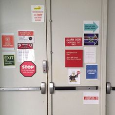 We really, really, really don't want you to use this door.