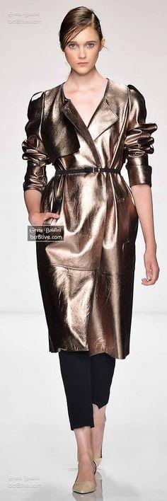 Metallic Kick! Coat Designer Fashion Trends Greta Bordini Fall 2014/15 Couture