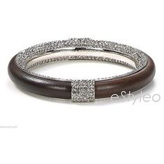 Pre-owned Michael Kors Safari Glam Bangle Bracelet Silver Plated Wood... (13,115 INR) ❤ liked on Polyvore featuring jewelry, bracelets, accessories, none, wood bangle bracelet, wood bangle, hinged bracelet, preowned jewelry and michael kors jewelry