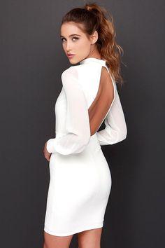 vestido blanco mangas