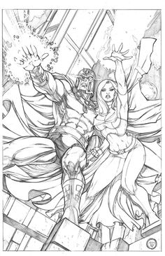 X-Men For Life — genoshan: Magneto and Emma Frost by Adriana Melo Marvel Comics Art, Marvel Comic Books, Comic Books Art, Comic Art, Ms Marvel, Captain Marvel, Manga Coloring Book, Adult Coloring Pages, Coloring Books