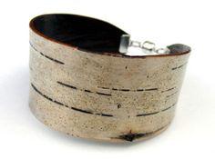 Birch bark jewelry by Bettula.