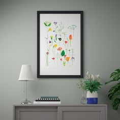 BILD Poster - Flowers in bloom - IKEA Ikea, Red Couch Living Room, Paper Packaging, Gouache Painting, Blooming Flowers, Oeuvre D'art, Designer, Your Style, Creations