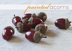 painted acorns | Inspired by Charm  - the perfect fall color!