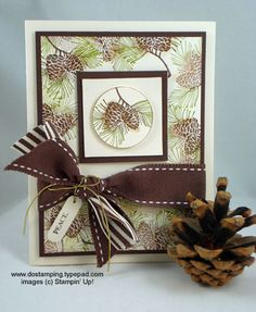 Peaceful Pinecones by dostamping - Cards and Paper Crafts at Splitcoaststampers