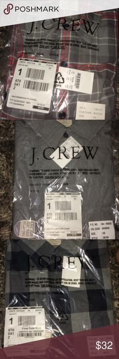 Three j.crew flannels Unopened size xs men's flannels. All three for $32! J. Crew Shirts Casual Button Down Shirts