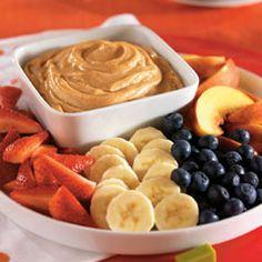 Peanut butter and yogurt dip