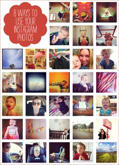 Lots of ideas for using your Instagram images to make great gifts