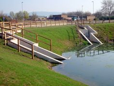 Basin In Gloucester Now Has Railings Around And No Public Access Due To Steep Sides Depth Of Water And Dangerous Concrete Head Drainage Basin Sustainability
