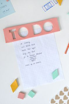 "DIY Geometric ""To-Do"" Magnets"