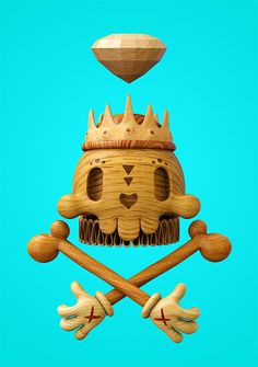 Dead Wood: 3D Illustrations by Teodoru Badiu | Inspiration Grid | Design Inspiration