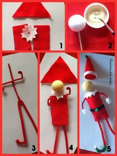Don't have an Elf on the Shelf? Make your own! Great tutorial for a DIY Elf on the Shelf from pipecleaners!