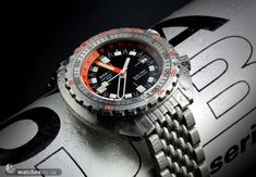 Doxa Sharkhunter Sub 750T GMT. Regarded as one of the very best inexpensive diving watches in the world.