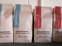 Sutmptown Coffee packaging - stitching