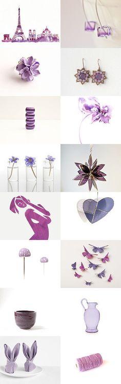 Shades Of Purple by BeLuli Designer on Etsy--Pinned with TreasuryPin.com