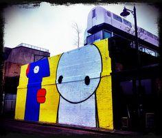 Street Art by Thierry Noir & Stik, The Village Underground, via Flickr.