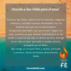 Oración a San Pablo para el amor #Dios #God #amor #oración #sentimientos #cristo #fe