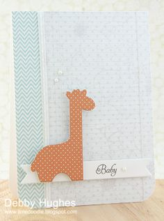 limedoodle, Papertrey Ink stamps, CASE Study challenge, baby card