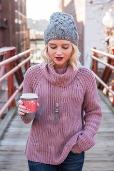 Poor Little It Girl - Purple Sweater - @poorlilitgirl
