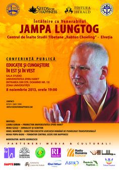 Dacă te-ai întrebat vreodată de ce zâmbeşte Dalai Lama, cine a fost Buddha şi de ce se vorbeşte atâta despre el, ce legătură are budismul tibetan, cu educaţia şi cunoaşterea noiastră în vremurile în care trăim, ce este budismul şi multe altele în legătură cu acest subiect, poţi găsi răspunsurile conferința ţinută vineri seara la Bucureşti.  https://www.facebook.com/events/437908349652580/