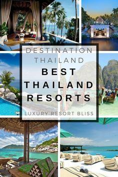 The Best Thailand resorts Thailand Beach Resorts, Thailand Vacation, Thailand Honeymoon, Thailand Travel, Asia Travel, Honeymoon Ideas, Philippines Travel, Quotes Together, Vacation Resorts