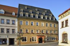 Hotel Graf von Mansfeld. This is the building in which Martin Luther died.