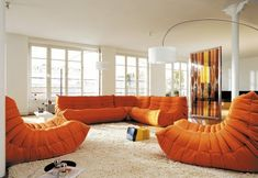 """Ligne Roset """"Togo"""" sofa for play room. Super comfy, low, seats many, and is very high quality."""