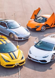Ferrari 458 Speciale, Lamborghini Huracan, Porsche 911 and Mc Laren 650S