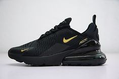 watch 4d0b2 0115c Nike Air Max 270 Mens Shoes AH8050-007 Black Gold on www.max270us.