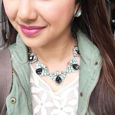 We're loving our Trevi Statement Necklace on blogger: Pretty In Plum! #candi  https://www.chloeandisabel.com/boutique/candiceengel