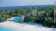 Adaaran Select Meedhupparu resort. Reachable only by plane.