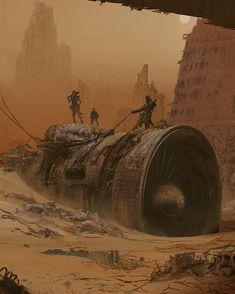 Ideas For Sci Fi Fantasy Art Post Apocalyptic Art Apocalypse, Apocalypse Aesthetic, Apocalypse World, Apocalypse Landscape, Concept Art Landscape, Fantasy Landscape, Arte Sci Fi, Sci Fi Art, Sci Fi Fantasy