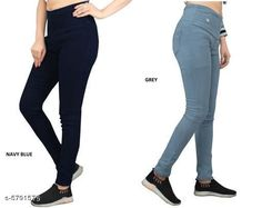 Checkout this latest Jeggings Product Name: *Elegant Fashionista Women Jeggings* Sizes:  30 (Waist Size: 30 in, Length Size: 38 in, Hip Size: 34 in)  32 (Waist Size: 32 in, Length Size: 38 in, Hip Size: 36 in)  34 (Waist Size: 34 in, Length Size: 38 in, Hip Size: 38 in)  36 (Waist Size: 36 in, Length Size: 38 in, Hip Size: 40 in)  38 (Waist Size: 38 in, Length Size: 38 in, Hip Size: 42 in)  40 (Waist Size: 40 in, Length Size: 38 in, Hip Size: 44 in)  Country of Origin: India Easy Returns Available In Case Of Any Issue   Catalog Rating: ★4 (364)  Catalog Name: Elegant Fashionista Women Jeggings CatalogID_872087 C79-SC1033 Code: 718-5791575-7422