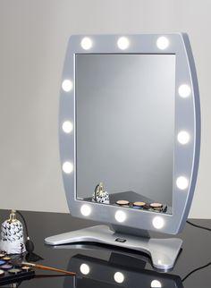 portable vanity mirror with lights. MDT MAKEUP TABLE MIRROR WITH 12 LIGHTS 470x650  Makeup Vanity Mirrors Cantoni for makeup Portable vanity mirror with professional lights vanities