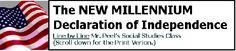 New Millennium Declaration of Independence in modern-day language.