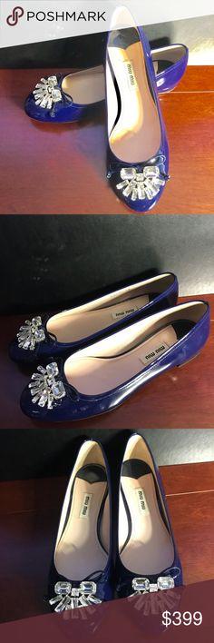 5941d32d04d Miu Miu Shoes Ballet Flats Vernice Patent Leather New Miu Miu Women s Shoes  Ballet Flats Size