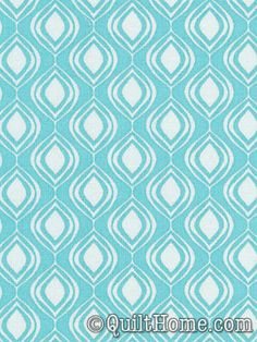 Cocoon Quilting Weight PWVW044-Aqua Fabric by Valori Wells