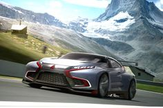 "The Vision Gran Turismo project started with a single question from Gran Turismo founder Kazunori Yamauchi: ""Would you d. Supercars, Cool Car Pictures, Car Pics, Car Activities, Automotive Manufacturers, Mitsubishi Lancer Evolution, Car In The World, Automotive Design, Hot Cars"