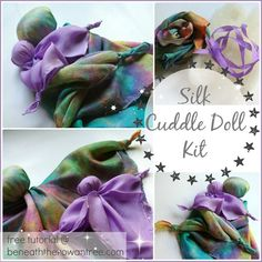 Silk Cuddle Doll DIY Craft Kit for Hand by BeneathTheRowanTree