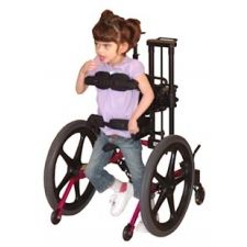 This is a Kid Walk Gait Trainer. My daughter, who has Cerebral Palsy, tried several types of gait trainers during her physical therapy, & this is the one that worked best for her. So we purchased one for her and she has done very well with it.  I really recommend it! She went from taking only 2 steps using a Pacer gait trainer to up to about 30 steps at a time with the Kid Walk!