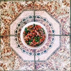 Fresh Salsa: Tomato, coriander, red onion, jalepenos, garlic, lime and coriander Fresh Salsa, Fresh Fresh, My Recipes, Vegan Recipes, Coriander, Onion, Garlic, Lime, Tableware