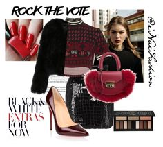 """""""Untitled #872"""" by inaifashion on Polyvore featuring Yves Saint Laurent, Anna Sui, SALAR, Christian Louboutin, Kat Von D, contest, contestentry and rockthevote"""