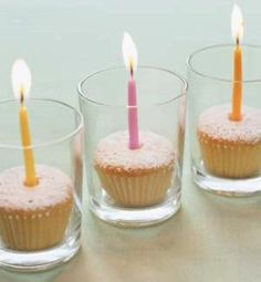 This CUPCAKES & CANDLES idea makes a simple but effective party decoration. Plus you can always colour match the cupcakes & candles to tie in with your theme. More ideas for kids parties ...